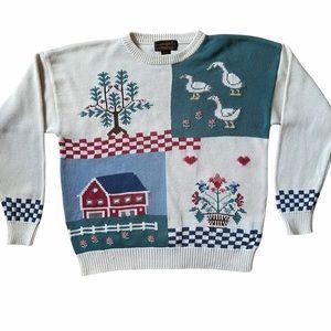 Eddie Bauer Vtg Grandma Sweater Large